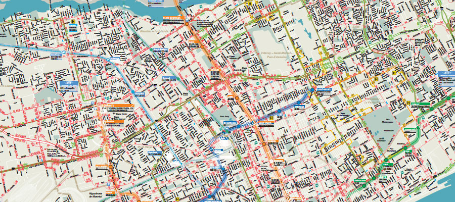Montreals Transportation Network Map Montreal Travel Guide