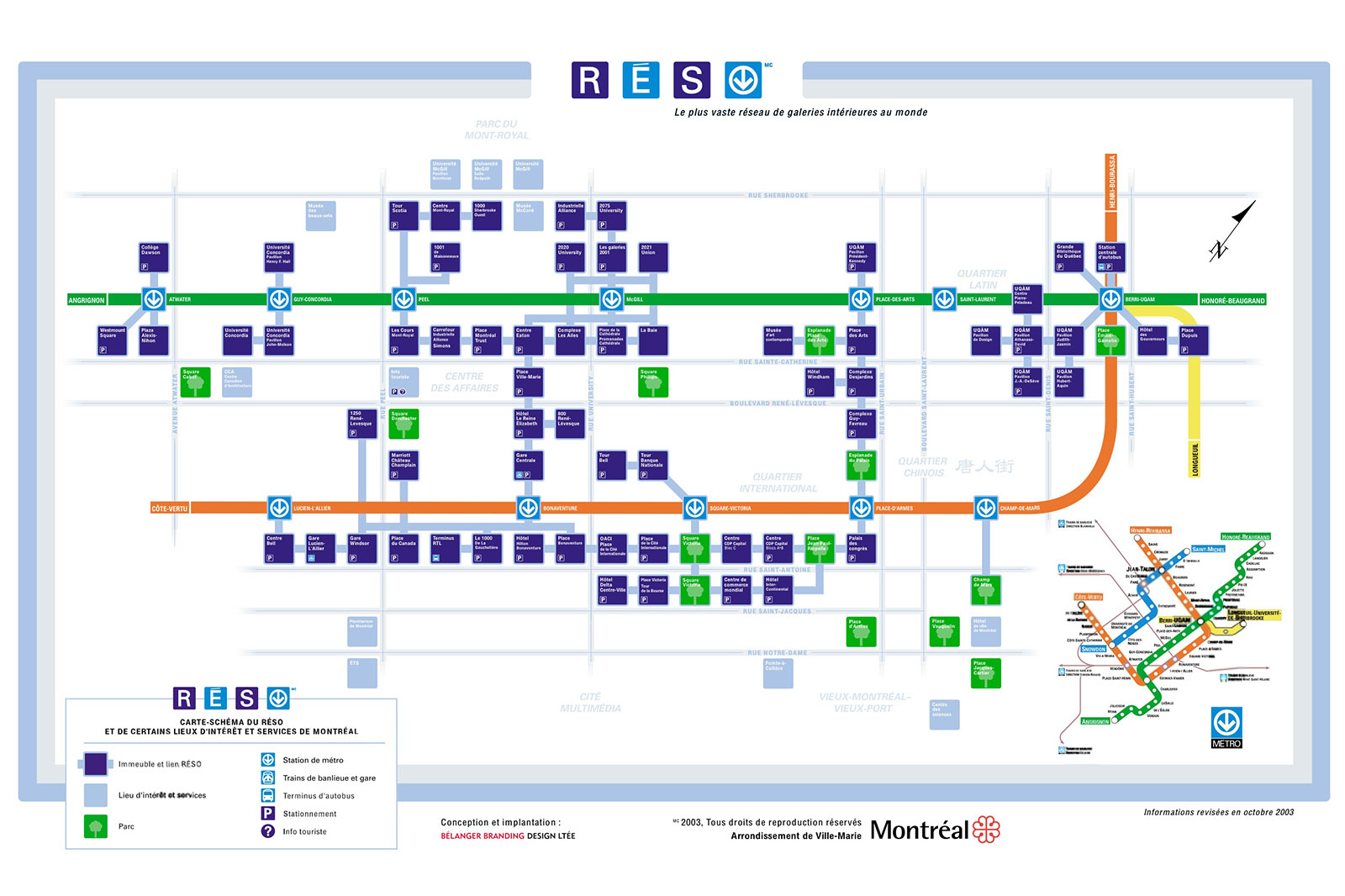 Montreal Subway Map Printable.Montreal S Reso Network Map Underground City Map Montreal Travel
