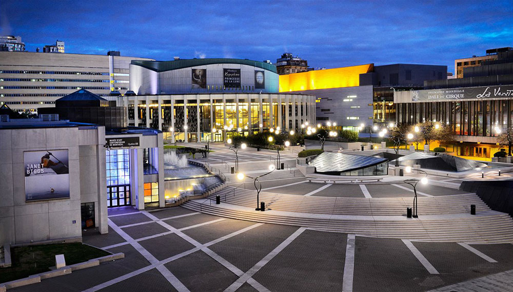 montreal-place-des-arts-night